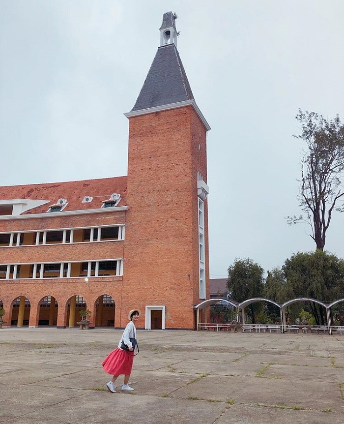 Dalat College of Education - check in with the bell tower
