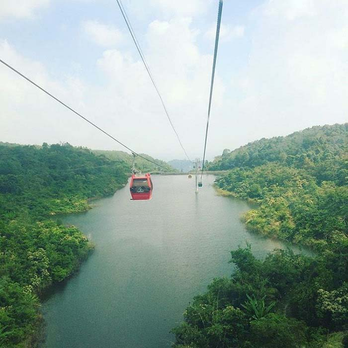 Travel Experience Tinh Bien An Giang - Cable car to Cam mountain