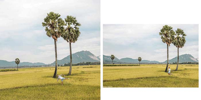 Travel Experience Tinh Bien An Giang - Check in between palm fields