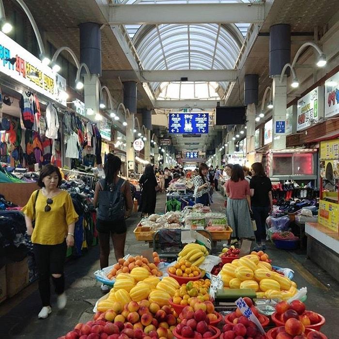 chợ truyền thống ở Jeju - chợ hàng ngày Seogwipo Olle