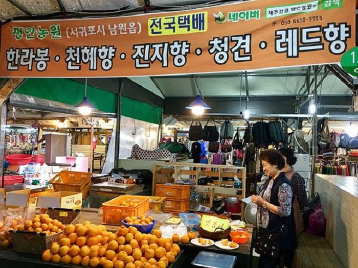 chợ truyền thống ở Jeju ấn tượng