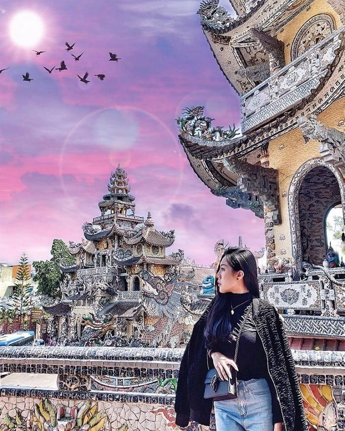 Chùa Linh Phước - điểm tham quan trong chương trình khuyến mãi tour Đà Lạt 3N3Đ