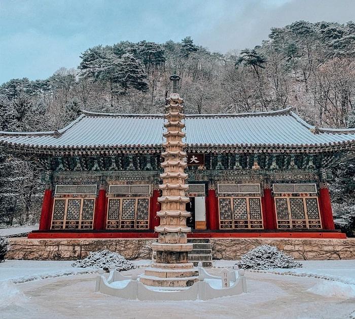 13-storey stupa - typical work of Pho Hien Korean Temple