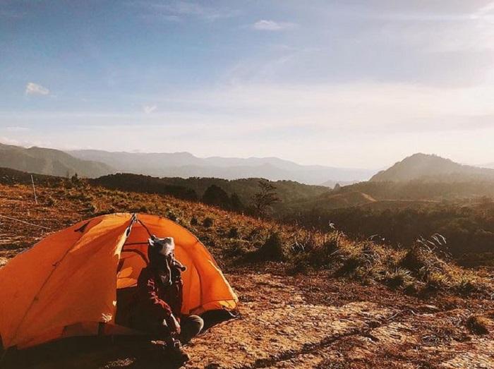 địa điểm du lịch Đức Trọng - cắm trại trên rừng Tà Năng