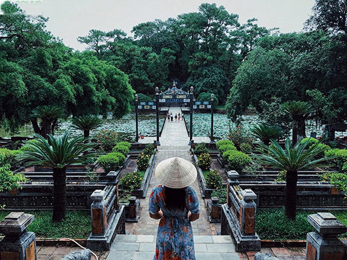 Architectural beauty of Hue Minh Mang mausoleum - built in April 1840