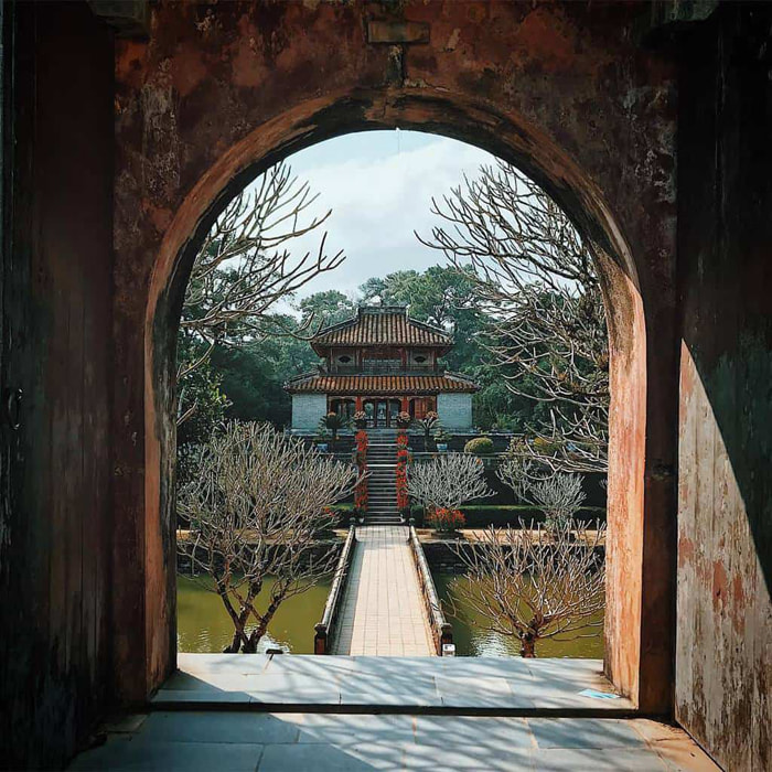 Architectural beauty of Hue Minh Mang mausoleum - also known as Hieu Lang