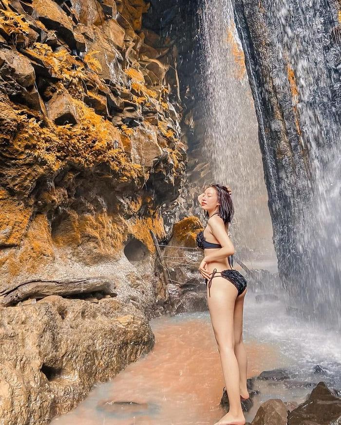 bathing - a favorite activity at Dray Nur Falls
