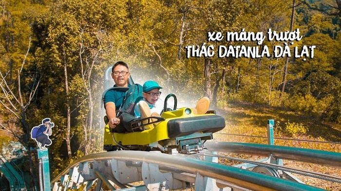 tham quan thác Datanla - trải nghiệm xe máng trượt