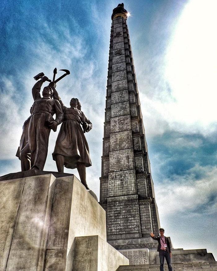 Tháp chủ thể - kinh nghiệm du lịch Bình Nhưỡng về điểm ghé thăm