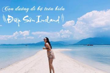 Xách balo lên và khám phá con đường đi bộ trên biển ở đảo Điệp Sơn đẹp mê hồn