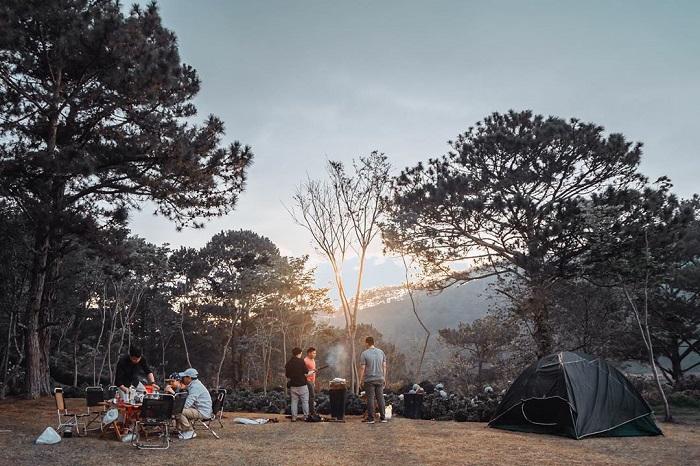 Dalat golden valley - overnight campfire