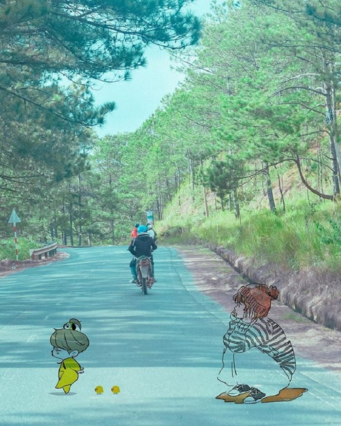 Dalat golden valley - the way
