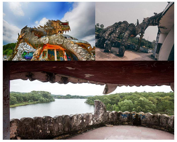 The ghostly beauty of the abandoned park in Hue - The aquarium was meticulously built