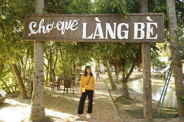 Check in khu du lịch Làng Bè Bến Tre - Trải nghiệm mặc áo bà ba