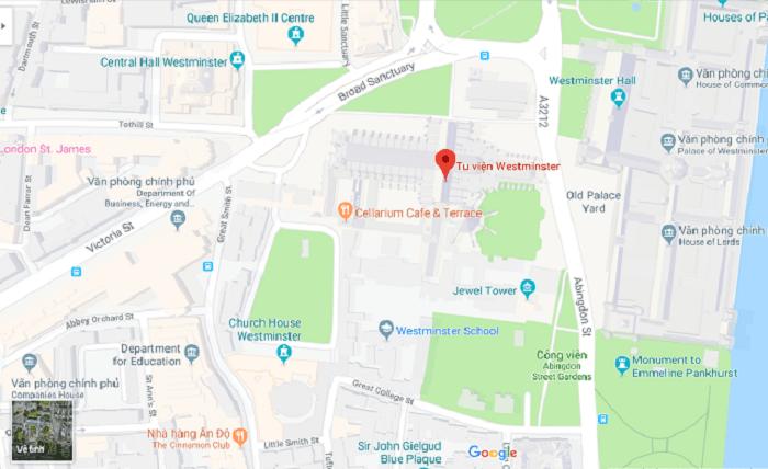 Tu viện Westminster nước Anh - địa chỉ ở đâu