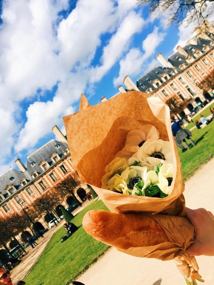 Fresh bread at Le Marais in Paris - French Culinary Culture