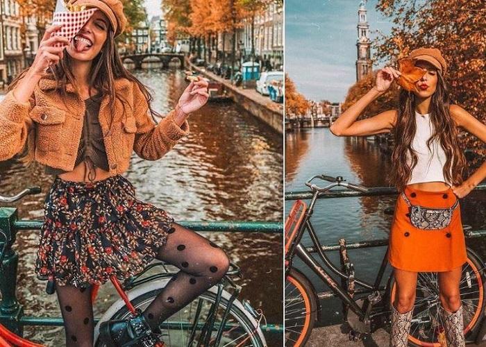 Mách nước tạo kiểu pose hình vạn like cùng xe đạp tại Hà Lan