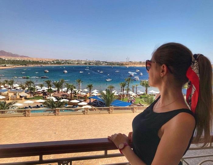 Naama Bay - beautiful blue sea in Egypt