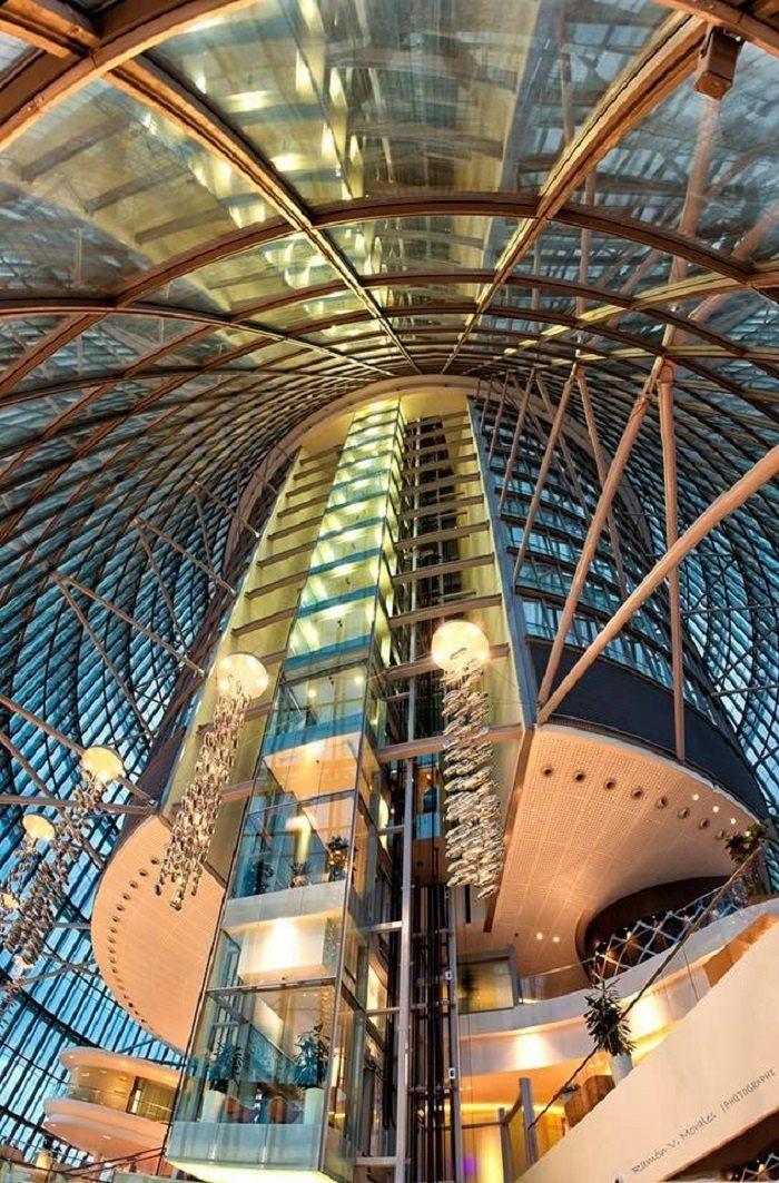 Elevator of the Aspire Tower in Qatar
