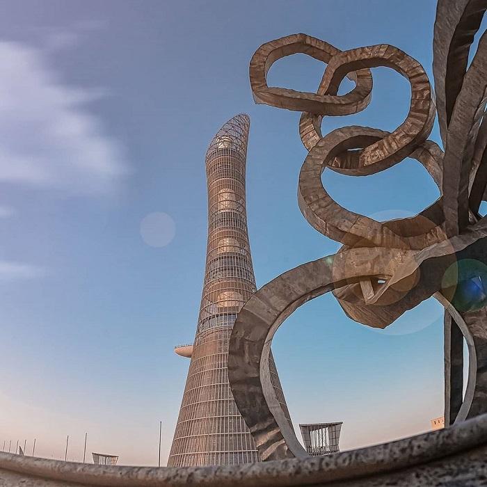 Aspire tower is unique works in Qatar