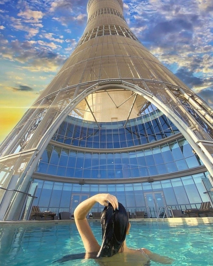 Check-in at the Aspire Tower in famous Qatar