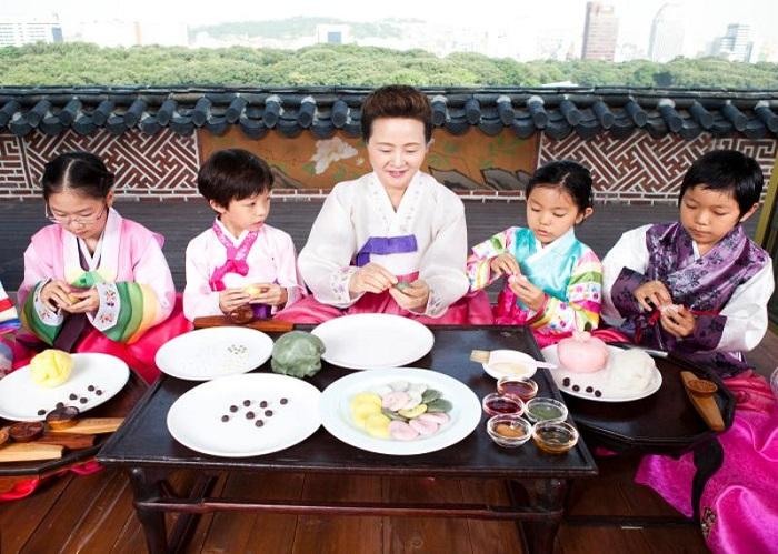 bảo tàng ẩm thực ở châu Á-bánh gạo Hàn QUốc