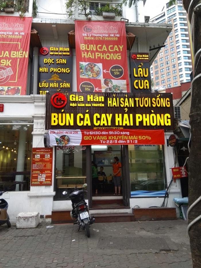 Nhắc đến các quán bún cá ngon ở Hà Nội không thể quên quán bún cá cay Gia Hấn