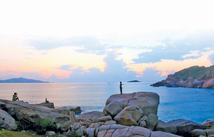 The beautiful natural scenery of Ninh Thuan Sweet Water Beach
