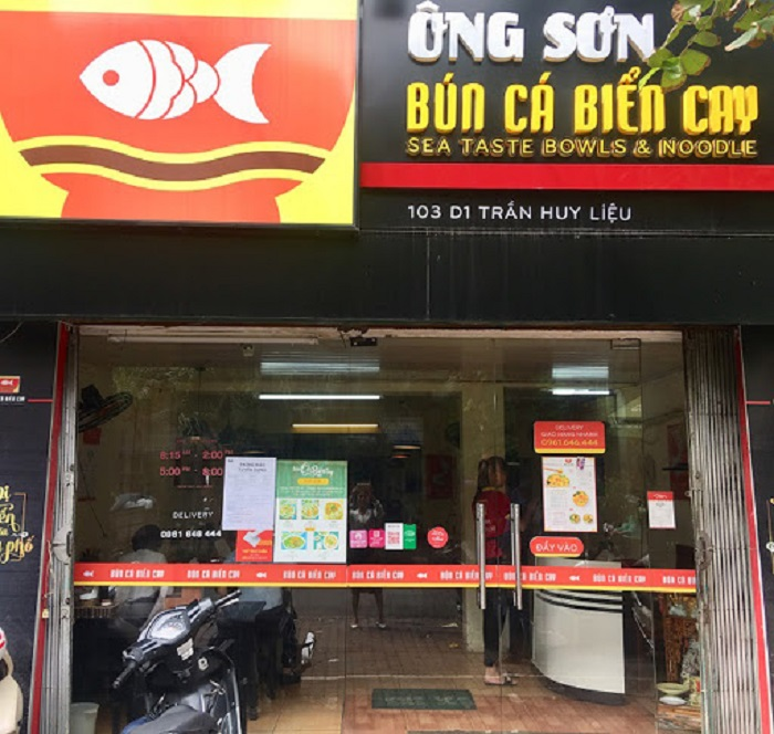 Bún cá cay ông Sơn - Quán bún cá ngon ở Hà Nội