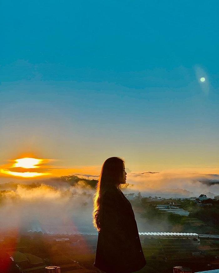 điểm săn mây ở Đà Lạt - đón ngày mới ở Bình Yên House