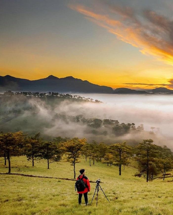 điểm săn mây ở Đà Lạt - đồi Đa Phú