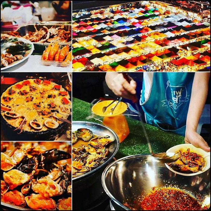 food - the best attraction at Rod Fai . night market