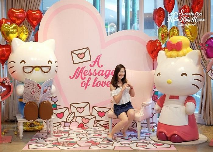 Sống lại thuở thơ bé tại Hello Kitty House ở Bangkok