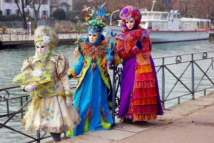 Annecy Venetian Carnival by the lake