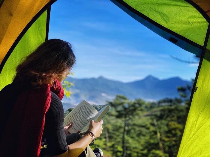 cloud hunting on Da Phu hill - camping