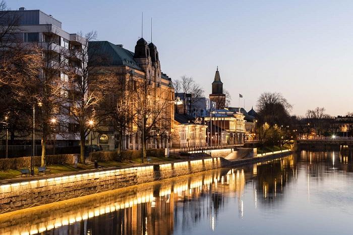 shimmering beauty in Turku Finnish city