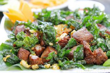 Thịt trâu lá trơng Quảng Trị - hương vị 'mê hoặc' thực khách