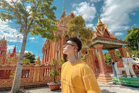 Chùa Khmer Monivongsa Borapham Cà Mau - điểm du lịch tâm linh Đất Mũi