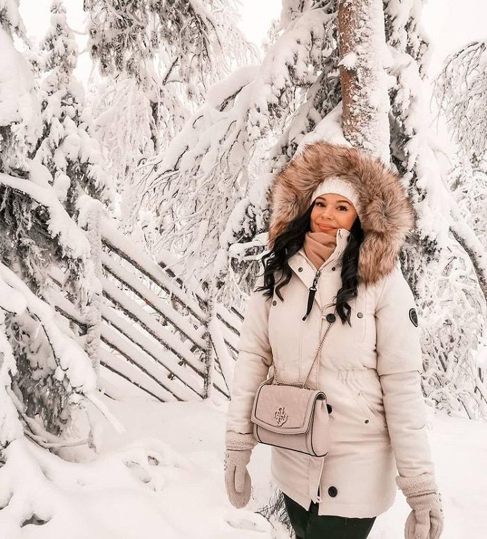 Trang phục khi du lịch Phần Lan vào mùa đông