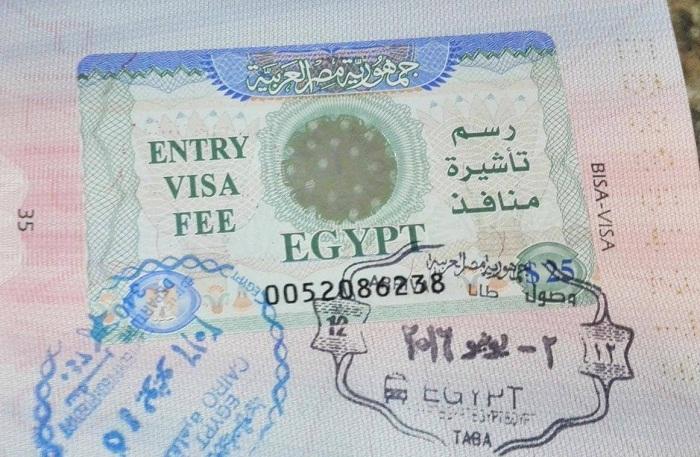 Chuẩn bị visa là một trong những lưu ý khi du lịch Ai Cập
