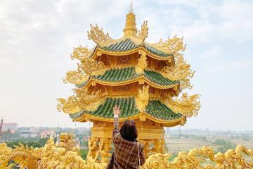 Check-in ngôi chùa 'dát vàng' Phúc Lâm Hưng Yên