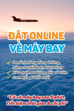Banner vé máy bay