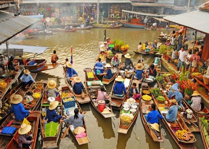 Kết quả hình ảnh cho Chợ Nổi Bốn Miền (Four Regions Floating Market)
