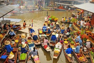 Đến Thái Lan trải nghiệm Chợ Nổi Bốn Miền