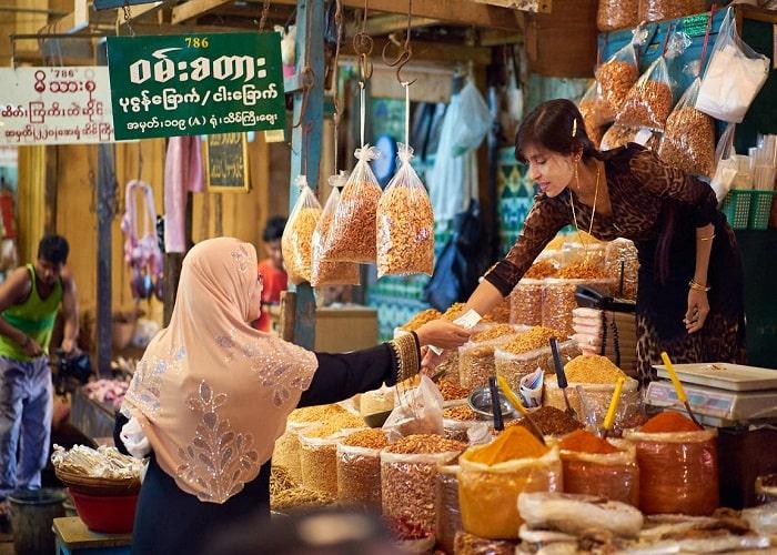 Chợ Bogyoke Aung San, Myanmar