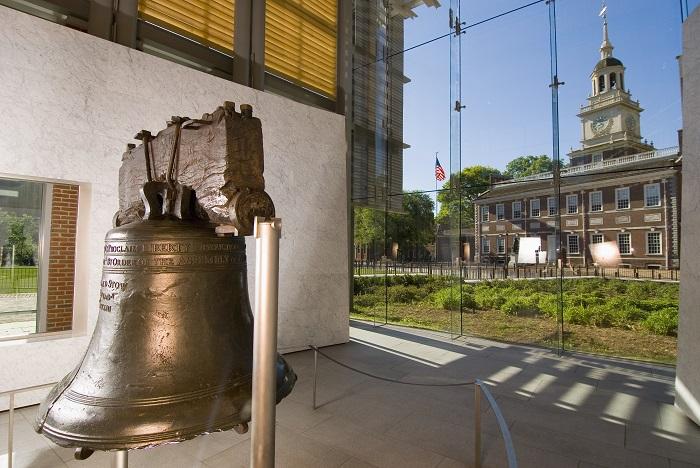 Tham quanChuông tự do– Libery Bell : Đây là quả chuông vang lên tiếng chuông khai sinh nước Mỹ.