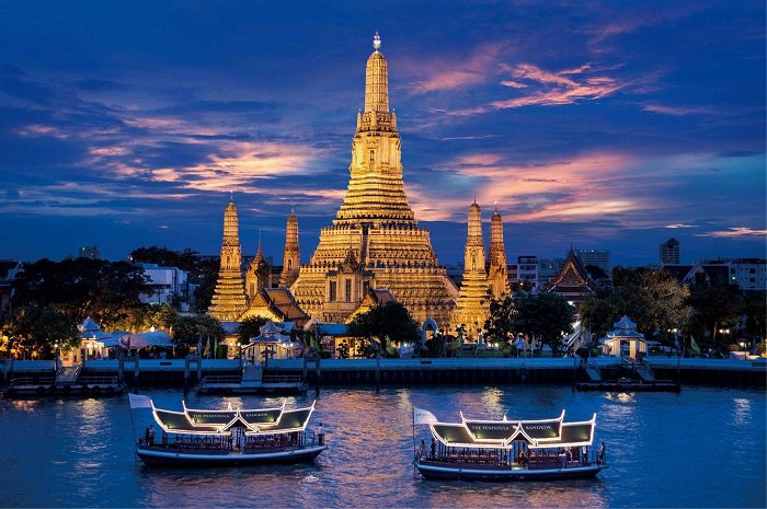 Dạo thuyền trên sông Chao Praya