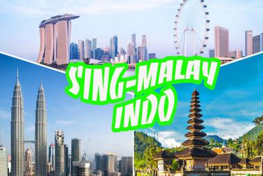 Cần Thơ - Singapore - Malaysia - Indonesia 5N4Đ + Bay Scoot Air/Vietjet Air