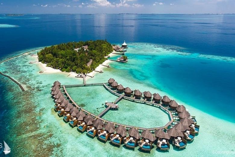 Một góc Maldives nhìn trên cao xuống