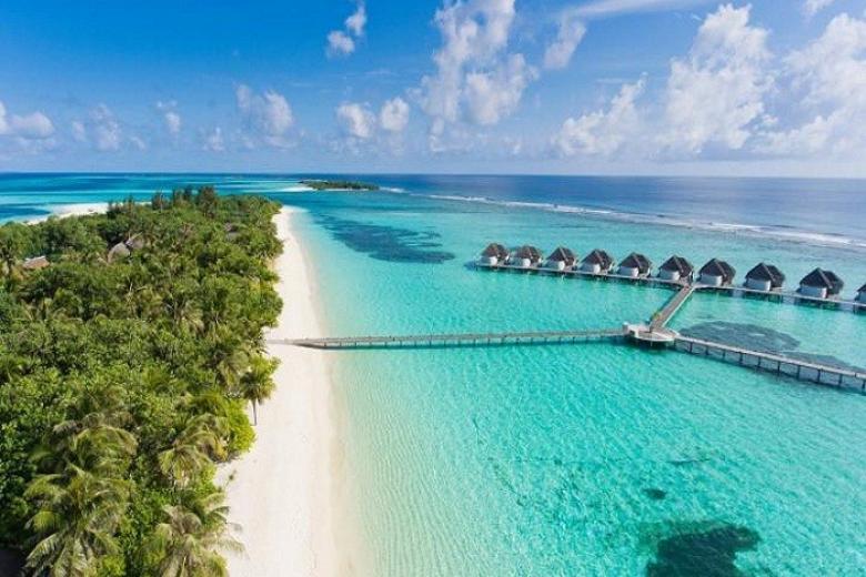 Thiên nhiên tươi mát ở Maldives